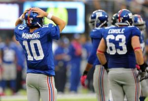 Eli Manning (10)  Photo Credit: Robert Sabo – NY Daily News