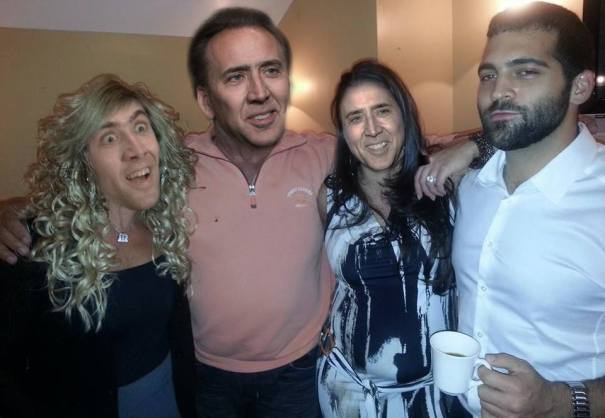 Nick Cage Clones Himself Twice Just to Take Pic. W/Me