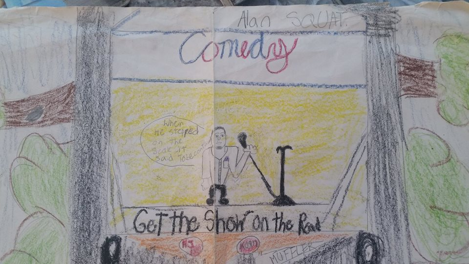 Stand-up comedy drawing 6th